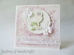 Gallery of handicrafts First Communion Cards, Cute Cards, Handicraft, Christening, Projects To Try, Gallery, Frame, Crafts, Decor