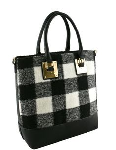 Wool Buffalo Plaid Tote  #phonecase #steppnnstyle #makeup #fashion #bags #fashiononfleek #blackfriday #worldwideshipping #fashionjewelry #boots