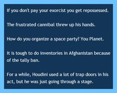 Here are my favorite puns of the day. Best Short Jokes, Best Puns, Space Party, Funny Puns, The Funny, Humor, Funny Pun Names, Hilarious Texts