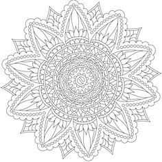 Rewarding Path Mandala Coloring Page By Varda K. Pattern Coloring Pages, Mandala Coloring Pages, Coloring Book Pages, Mandala Design, Mandala Art, Mandala Stencils, Free Stencils, Printable Coloring Sheets, Zentangle Patterns