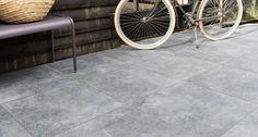 Tuintegels :: Keramische Tegels :: Duostone Hormigon Antracite - Uni - Lek Tuinmaterialen