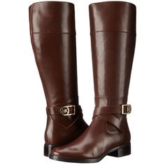 MICHAEL Michael Kors Bryce Tall Boot Women's Boots, Brown ($236) ❤ liked on Polyvore featuring shoes, boots and brown