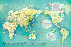World map in the picture it shows where south and north korea is unified korea will share the dream of worlds positive changes and prosperity by overcoming the tragedy gumiabroncs Choice Image