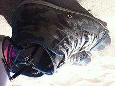 """Sneakers """"Leather Crown - Blue Camouflage"""""""