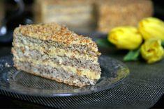 Orechová torta s orechovým krémom.. Banana Bread, Rum, Goodies, Baking, Food, Bulgarian, Cakes, Drinks, Projects