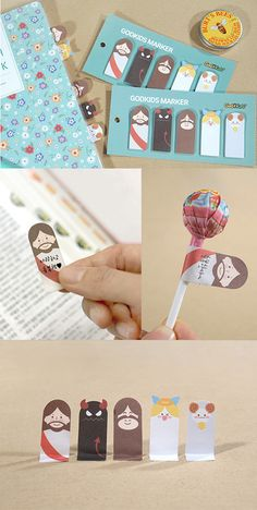 So fun!! These cute sticky notes feature quirky Bible characters and double as page flags for your planner, too!