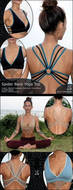 Spider Back Yoga Top - *NEW!* cool idea to do a choli or dance bra with.