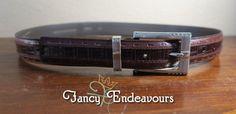 Tulliani Italian Italy Leather Belt Size 34 Brown Alligator #Tulliani