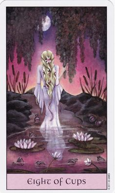 Crystal Visions Tarot: A Magickal Journey to Enlightenment. Fantasy Tarot Deck by Jennifer Galasso. Eight Of Cups, Cup Tattoo, Witchcraft Books, Tarot Learning, Tarot Card Meanings, Tarot Spreads, Tarot Readers, Oracle Cards, Tarot Decks