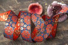 Indigo & Blossom / Ribbon Sari Border / India 1 by WomanShopsWorld, $3.85