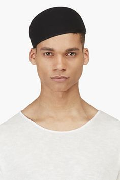 Robert Geller Black Wool Laszlo Hat for men  9254b0df052e