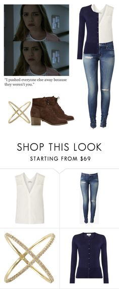 """""""Emma Duval - mtv scream"""" by shadyannon ❤ liked on Polyvore featuring Sandro, Hudson Jeans, Eva Fehren and Monsoon"""