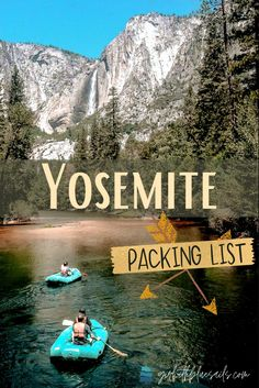 Yosemite Packing List: Essentials and gear for any time of year. Browse top items and tips for hiking, rafting, camping, and biking. 🍃 #yosemitenationalpark #traveltips #camping #campvibes #backpacking #roadtrip #bucketlist #yosemitefalls #travel #wanderlust #travelblogger