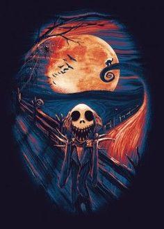 jack scream nightmare christmas halloween horror pumpkin cat bats ...