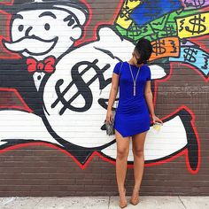 Lunch vibes || Royal blue t-shirt dress available via @SheTheCollection at noon PST tomorrow! #OOTD