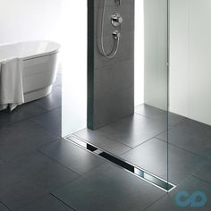 Contemporary bathrooms look clean cut and fresh, always with stylish details too, to pull the finishing look together. Modern contemporary bathrooms can. Bathroom Layout, Modern Bathroom Design, Contemporary Bathrooms, Bathroom Rugs, Bathroom Interior Design, Small Bathroom, Bathroom Ideas, Shower Drain, Glass Shower