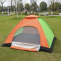Today's Deals 3-4 Person Camping Tent Orange   green   black By XKMJT sale