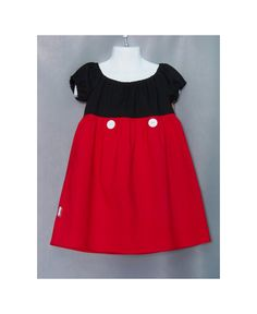 CUSTOM MICKEY MOUSE Inspired Girls Size 5 6 7 8 Princess Dress