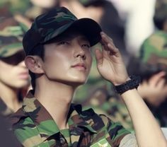 Lee Jun Ki. Not on set, doing his military service, but still looking camera ready.