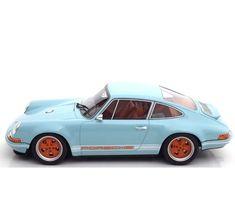 New 1/18 Cult Models 2014 Porsche 911(964) Singer Gulf Blue #CultModels #Porsche