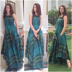 Kalki # Aniket satam# casual tunic style # day look # Indian fashion Western Dresses, Indian Dresses, Indian Outfits, Nice Dresses, Casual Dresses, Fashion Dresses, Summer Dresses, Kurta Designs, Blouse Designs