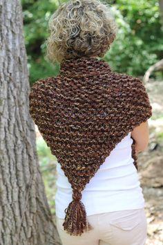 Sassenach Shawl Knitting Pattern Cowl Shoulder Wrap Chunky