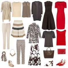 Summer capsule wardrobe, deep colouring