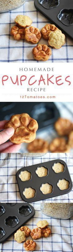 We love our furry family members so much, we can't help but spoil them with fresh and healthy treats that they devour in seconds…plus, we simply can't get enough of those little paw prints! Our dogs love this recipe (and we love it for it's fresh simplicity), but combined with this muffin tin, these pupcakes really couldn't get any better!