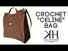 YouTube Crochet Bag Tutorials, Crochet Handbags, Crochet Bags, Crochet Christmas Gifts, Celine Bag, Knitted Bags, Crochet Designs, Diy Design, Louis Vuitton Damier
