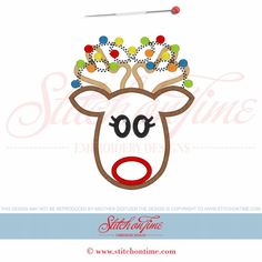 649 Christmas : Reindeer Applique 5x7