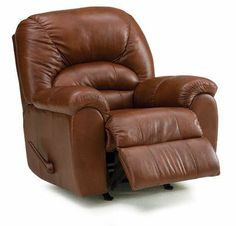 Contemporary leather recliners are available at Wellington's