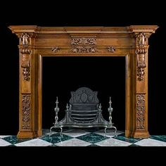 an antique jacobean style oak caryatid fireplace surround antique wood fireplaces for sale antique wood fireplaces