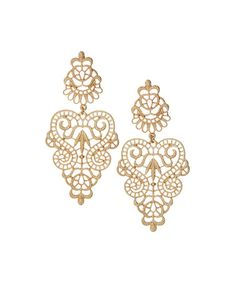 This Goldtone Baroque Filigree Earrings is perfect! #zulilyfinds