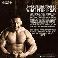 Dont just listen to people, they will only tell you things which we all know! Do what your body allows and push yourself every frigging day to grow and achieve your fitness goals. #Stayfit #Tarungill #Fitnessexpert #fitnessgoal