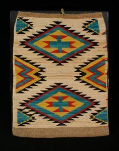 Native American corn husk bag.