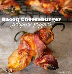 ~Bacon Cheeseburger Jalapeño Poppers!