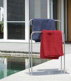 Handtuchhalter aus Edelstahl #Handtuchhalter #Edelstahl #Pool #Outdoor #Stainless Steel #PoolTowelHolder #freestanding #Rostfrei #rustfree
