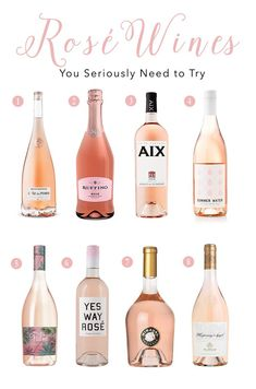 8 Rosé Wines You Seriously Need to Try - Glam Life Living Rosé wines for spring and summer, best ros Guide Vin, Wine Guide, Alcohol Drink Recipes, Wine Recipes, Best Wine To Drink, Good Wine, Best Moscato Wine, Comment Dresser Une Table, Best Rose Wine