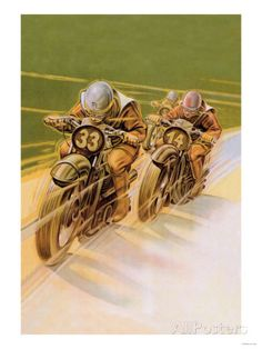 Race motorcycle vintage