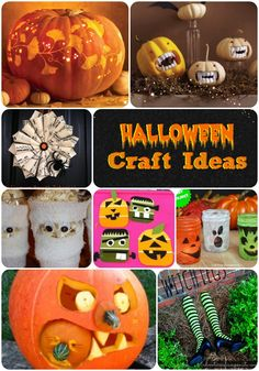 Here are over 18 Fun Halloween Craft Ideas!