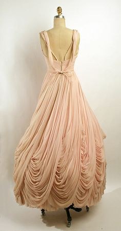 Dress (Ball Gown) Jean Dessès (French, born Eqypt, 1904–1970) Date: fall/winter 1953–54 Culture: French Medium: silk