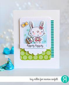 Reverse Confetti | www.reverseconfetti.com | February Release | Hippity Hoppity | Easter Card by Kay Miller