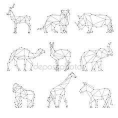 depositphotos_91646556-stock-illustration-geometric-animals-silhouettes.jpg (450×450)
