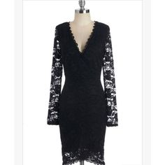 NWOT! Black long sleeved lace dress Never been worn dress is perfect for a  night fb121007b10