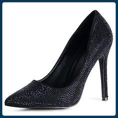 topschuhe24 1029 Damen Pumps Glitzer High Heels, Farbe:Schwarz;Größe:37 - Damen pumps (*Partner-Link)