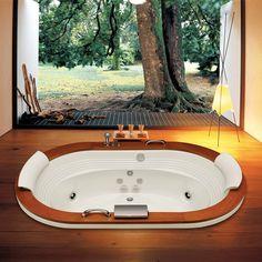 A banheira hidromassagem Jacuzzi convida ao relaxamento total para serenar o corpo e a mente. R$10707.90 #hidrojacuzzi