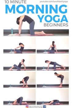 I was looking for a morning yoga workout and this seems to be the perfect one for my needs. A nice morning yoga routine to get the day started. Yoga Beginners, Beginner Yoga, Advanced Yoga, Yoga For Begginers, Yoga For Beginners Flexibility, Yoga Bewegungen, Yoga Meditation, Yoga Flow, Kundalini Yoga