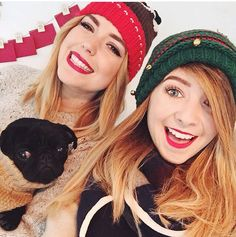 Zoe Sugg and Poppy Deyes