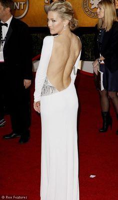Love open backs! Kate Hudson