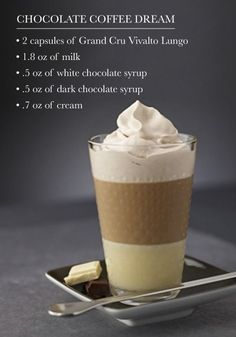 Take a moment for yourself to disconnect and simply enjoy this Chocolate Coffee Dream recipe from Nespresso. The combination of white and dark chocolate is sure to delight.